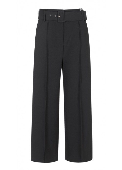 """Lariano"" - Black Culottes With Belt"