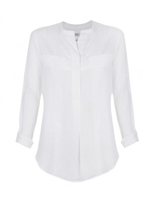 Malvin - Linen Chinese Collar Shirt
