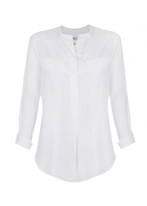 Malvin - Linen Chinese Collar Shirt