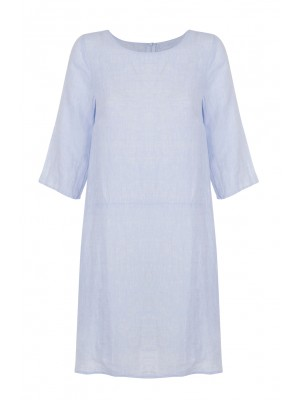 Malvin - Linen Light Blue Shift With Pockets