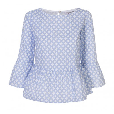Pettegole - Cotton Peplum With Bell Sleeve