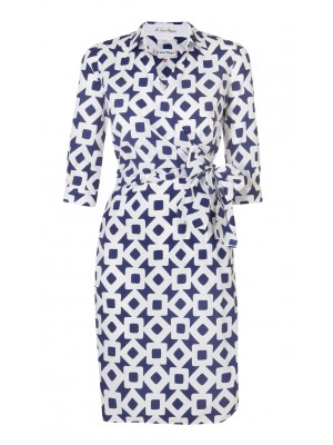 Pettegole - Cotton Square Print Wrap Dress