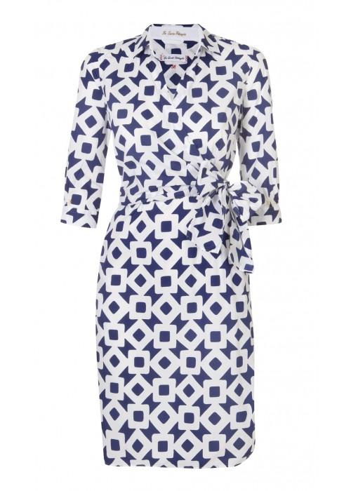 Pettegole - Cotton Square Print Wrap Dress