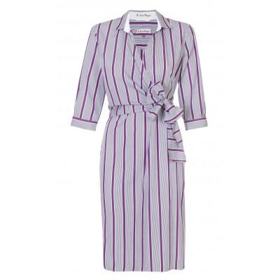 Pettegole - Cotton Stripe Wrap Dress
