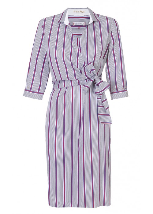Pettegole - Cotton Stripe Wrap Dress