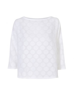 Rossopuro - Cotton Circle Imprint Blouse