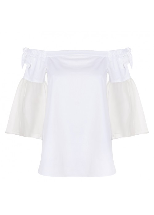'Eletta' - Cotton/Silk Off The Shoulder