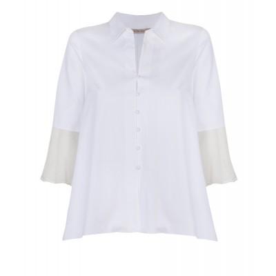 """Eles"" - Cotton/Silk A - Line Evening Shirt"