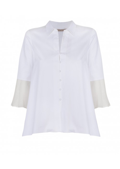 """Eles"" - Cotton/Silk A - Line Evening Shirt"