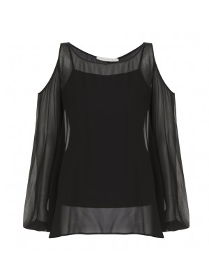 """Eleonara"" - Cold Shoulder Evening Blouse"