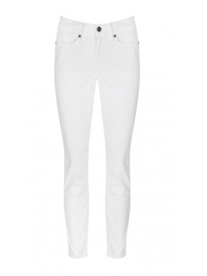 "Cambio - ""Piper"" White Slim Fit Cropped Denim Pants"