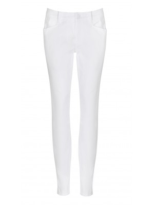 "Cambio - ""Parla Gallon"" White Slim Fit Denim Pants"