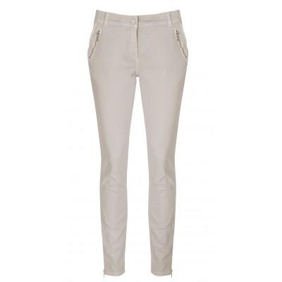 "Cambio - ""Rainbow"" 100% Cotton Sand Stretch Pants"