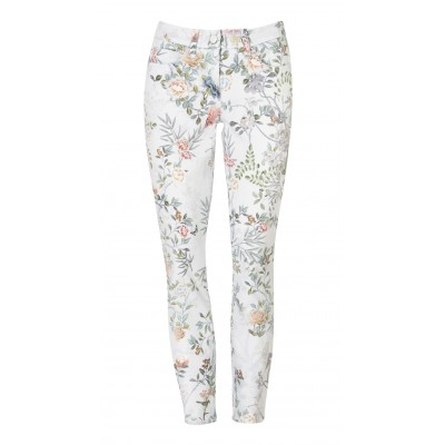 """Cambio - """"Parla Cropped"""" 100% Cotton Floral Printed Stretch Pants"""