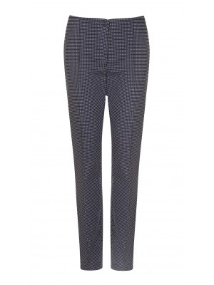 "Cambio - ""Ros"" Navy And White Dotted Classic Cut Trousers"