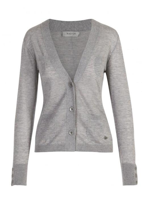 Malvin - Classic Grey Light Weight Cardigan