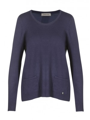 Malvin - Navy Jumper With Front Pocket Detail