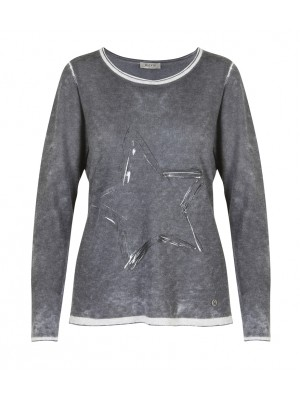 Malvin - Charcoal Light Weight Jumper With Star Detail