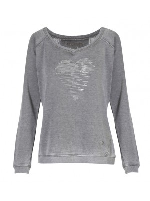 Malvin - Grey Sweatshirt With Heart Detail