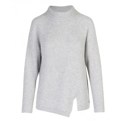 Malvin - 100% Woollen Polar Neck With Side Slit Detail