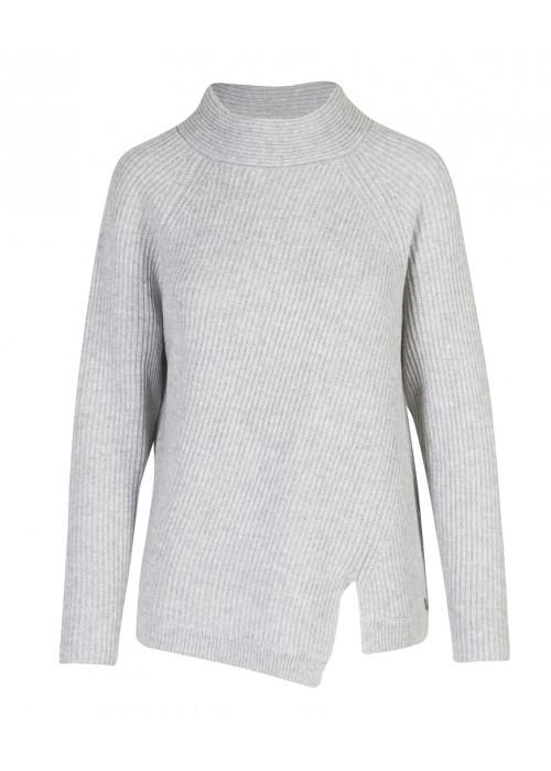 Malvin - 100% Woollen Polar Neck With Side Slit Detail
