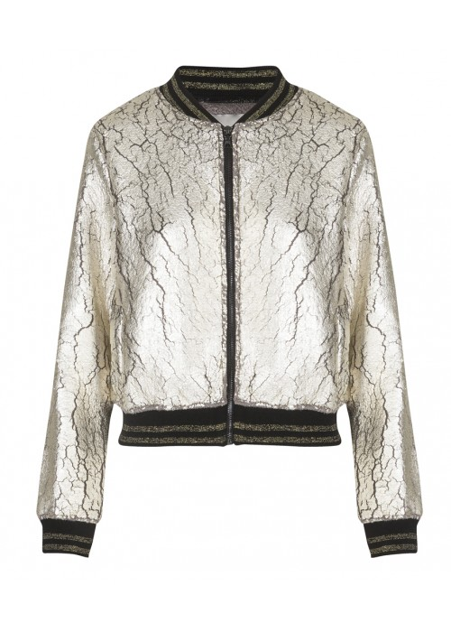 Malvin - Metallic Gold Bomber Jacket
