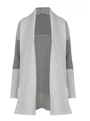 Malvin - 100% Woollen Grey Waterfall Cardigan