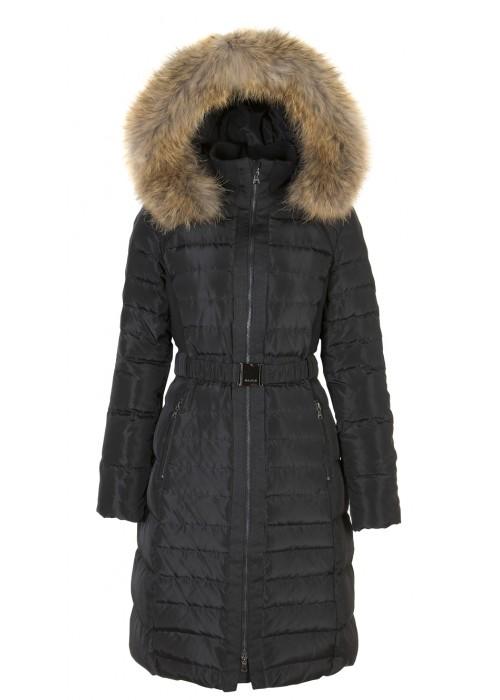 Malvin - Black Longer Length Puffer With Removable Hood