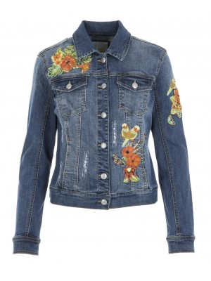 Malvin - Denim Jacket With Colourful Beaded Detail