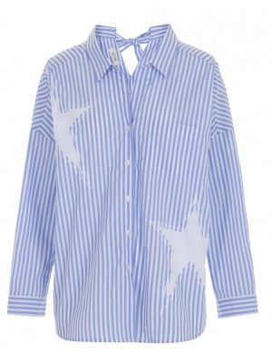 Malvin - 100% Cotton Striped Shirt With Star Detail