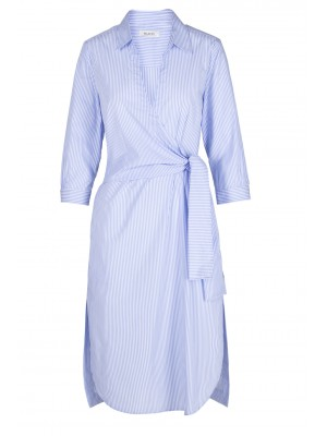 Malvin - 100% Cotton Striped Wrap Dress