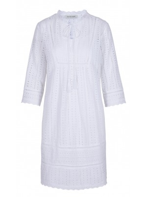 Malvin - 100% Cotton White Crochet Dress