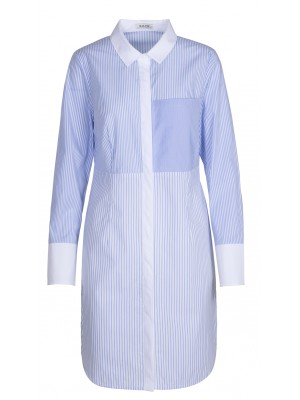 Malvin - 100% Cotton Striped Shirt Dress