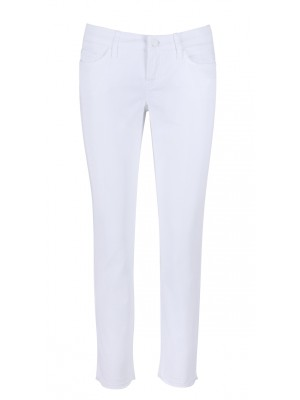 "Cambio - ""Lui"" Slim Fit White Denim Jeans"