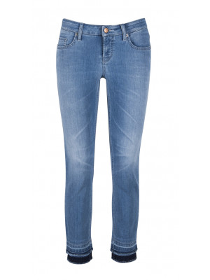 "Cambio - ""Liu Short"" Slim Fit Light Denim Jeans"