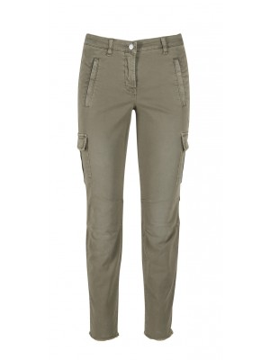 "Cambio - ""Ruby"" Military Slim Fit Khaki Trousers"