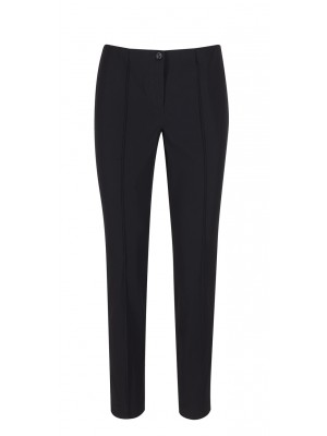 "Cambio - ""Ros"" Navy Classic Fitted Trousers"