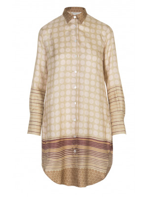 GuglielMinotti - Classic 100% Silk Shirt Dress