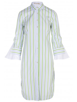 Pettegole - 100% Cotton Striped Shirt Dress
