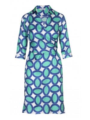 Pettegole - Classic 100% Silk Printed Wrap Dress