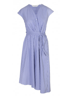 GuglielMinotti - 100% Cotton Striped Asymmetrical Dress