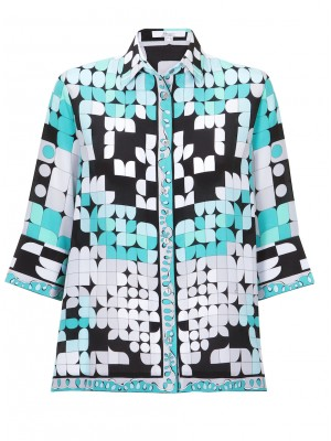 Bessi - Silk Multi Colour A - Line Shirt