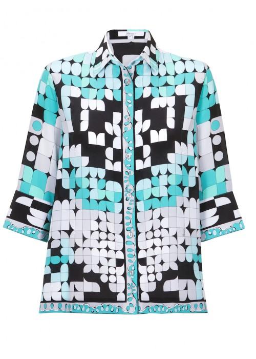 Bessi - Silk Multi Colour A - Line Shirt