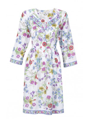 Bessi - Cotton Flower Print Dress
