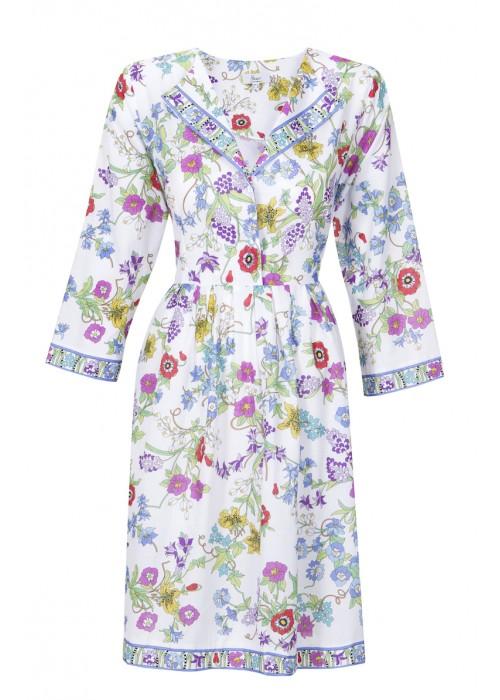 Bessi - Cotton Flower Print Dress