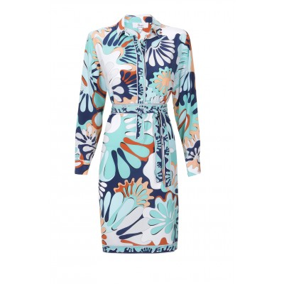 Bessi - Silk Multi Colour Turq Dress