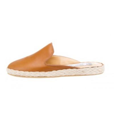 Vincenzo Ferrara - Tan Leather Closed Toe Slip On