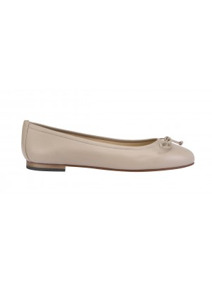 Vincenzo Ferrara - Classic Leather Ballerina In Taupe