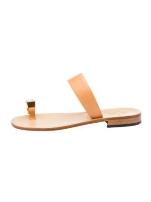 Vincenzo Ferrara - Leather Slip On With Toe Accessory