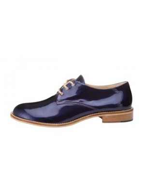 Vincenzo Ferrara - Patent Leather Midnight Blue Brogue